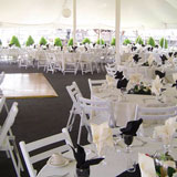 Beautiful tent for outdoor lakeside events.